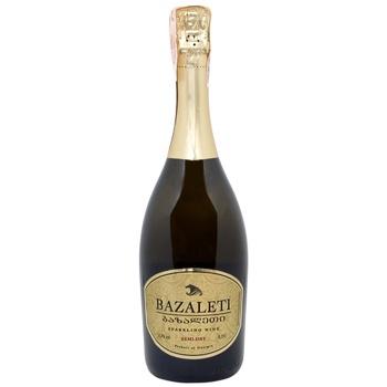 Вино игристое Bazaleti белое полусухое 12,5% 0,75л