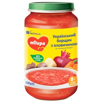 Суп-пюре Milupa Украинский борщ 200г