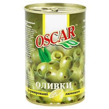 Оливки Oscar з лимоном 300г - купити, ціни на CітіМаркет - фото 1
