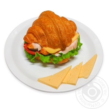 Сroissant with with ham and cheese