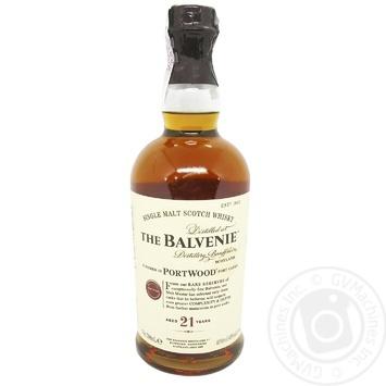 Віскі Balvenie Portwood 21 рік 42% 0,7л - купити, ціни на Novus - фото 1