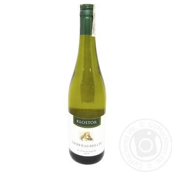Вино Klostor Liebfraumilch Nahe белое полусладкое 8,5% 0,75л
