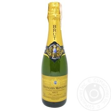 Francois Montand Brut Blanc de Blanc Sparkling Wine 11% 0.375l - buy, prices for CityMarket - photo 1