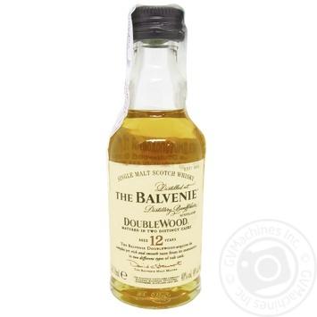 Віскі Balvenie Double Wood 40% 50мл 12років - купити, ціни на МегаМаркет - фото 1