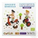 Деревянный конструктор Cubika World Быстрые колеса 200 элементов
