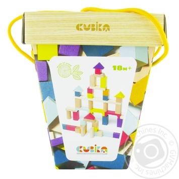 Деревянный конструктор Cubika 2 в ведре 50 элементов - купить, цены на МегаМаркет - фото 1