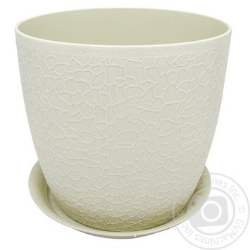 Idea Verona White Flowerpot With Stand 16cm - buy, prices for MegaMarket - image 1
