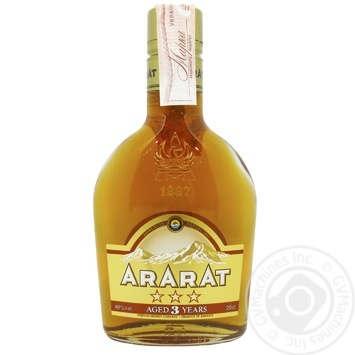 ARARAT 3* Brandy 200ml - buy, prices for Novus - image 1