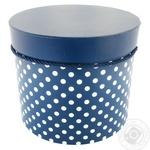Коробка кругла для квітів та подарункова 9400 3
