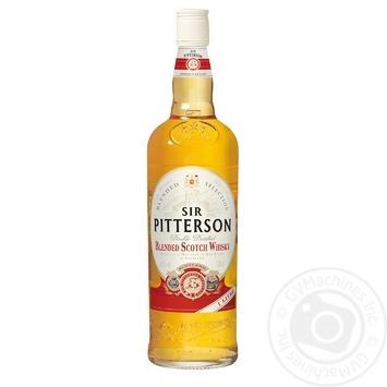 Віскі Sir Pitterson 40% 1л - купити, ціни на МегаМаркет - фото 1