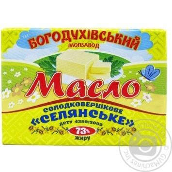Масло сладкосливочное Богодуховский молокозавод Крестьянское 73% 180г