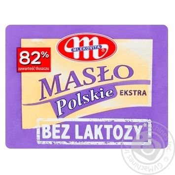 Mlekovita Butter Extra Lactose Free 82% 200g - buy, prices for MegaMarket - image 1