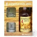 Віскі Templeton Rye 4 роки 40% 0,7л + 2 бокали у коробці - купити, ціни на МегаМаркет - фото 1