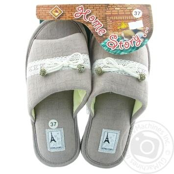 Обувь домашняя Home Story женская р.36-41 в ассортименте - купить, цены на МегаМаркет - фото 1