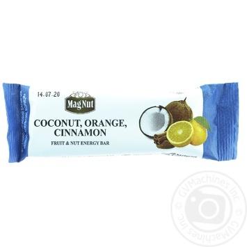 MagNut Bar Coconut Orange Cinnamon 30g - buy, prices for MegaMarket - image 1