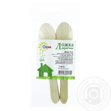 TSM Natural Wooden Disposable Spoon 16,5cm 6pcs