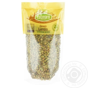 Groats lentils Culinaro green 400g - buy, prices for MegaMarket - image 1