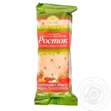 UkrEcoKhlib Rostok Crispbread From Germinated Wheat Grains With Sweet Pepper & Herbs - buy, prices for MegaMarket - image 1