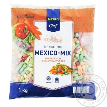 Мексиканская смесь Metro Chef замороженная 1кг - купить, цены на Метро - фото 1