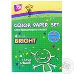 Набір кольорового паперу Cool for School 14 аркушів в асортименті