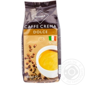 Кофе Rioba Dolce Caffe Crema в зернах 1000г - купить, цены на Метро - фото 1
