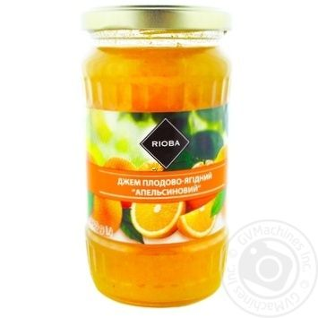 Джем Rioba апельсиновый 430г - купить, цены на Метро - фото 1