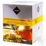 Суміш чаю Rioba трав'яного з квітковим, фруктовим та плодово-ягідним в пакетиках-пірамідках 15*2,5г