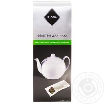 Фільтри Rioba до чаю 75х185мм 200шт - купити, ціни на Метро - фото 1