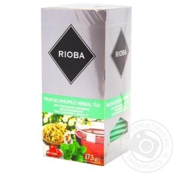 Чай Rioba трав'яний з фруктами та ромашкою 25 пакетиків - купити, ціни на Метро - фото 1
