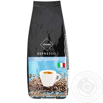Кофе Rioba в зернах декофеинована 500г - купить, цены на Метро - фото 1