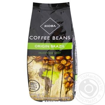 Кофе Rioba бразильский натуральный в зернах 500г - купить, цены на Метро - фото 1