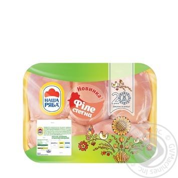 Филе бедра Наша Ряба цыпленка-бройлера охлажденное (упаковка СЕС ~550г) - купить, цены на Novus - фото 1