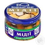 Vodnyi mir pickled with herbs mussles 200g