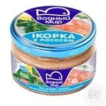 Vodniy Myr Capelin Caviar With Salmon Pieces Pasteurized Paste 160g