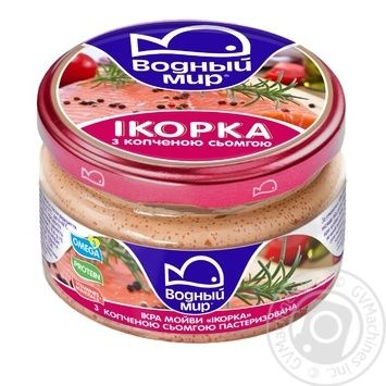 Vodniy Myr Capelin Caviar With Smoked Trout Pieces Pasteurized Paste 160g - buy, prices for Novus - image 2