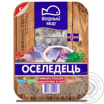 Vodniy Myr Spicy-Salted Herring Fillets In Oil 200g - buy, prices for Novus - image 2