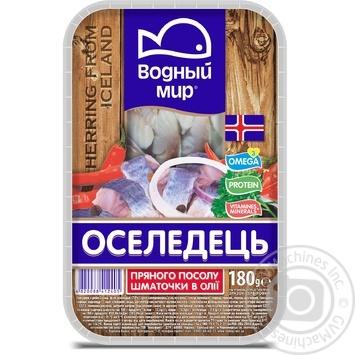 Fish herring Vodnyi mir spicy salted 180g