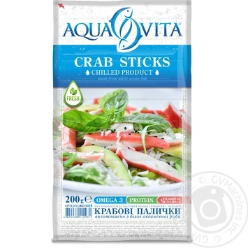 Aqua Vita Chilled Crab Sticks 200g - buy, prices for MegaMarket - image 1