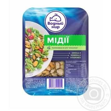 Vodnyi mir pickled mussels 150g - buy, prices for Furshet - image 1