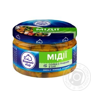 М'ясо мідій Водный мир в олії з травами 200г - купити, ціни на МегаМаркет - фото 1