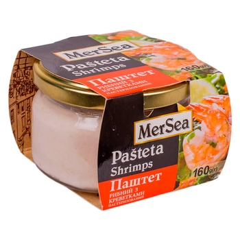 MerSea Fish Pate With Shrimp 160g - buy, prices for Novus - image 1