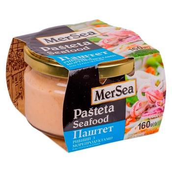 Паштет рибний MerSea з морепродуктами 160г - купити, ціни на ЕКО Маркет - фото 1