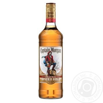 Ромовий напій на основі Captain Morgan Spiced Gold 35% 0,7л - купити, ціни на МегаМаркет - фото 1