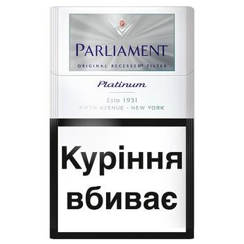 Сигареты Parliament platinum