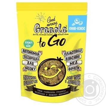 Good morning To Go coconut-date fruit granola 140g - buy, prices for Novus - image 1