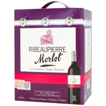 Вино Ribeaupierre Merlot красное сухое 12,5% 3л