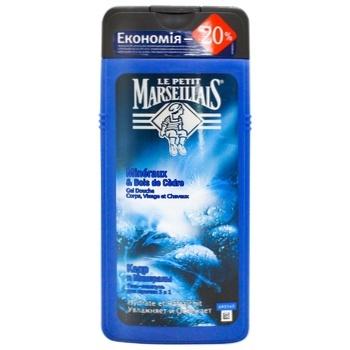 Гель-шампунь Le Petit Marseillais Кедр и минералы для мужчин 650мл - купить, цены на Метро - фото 1