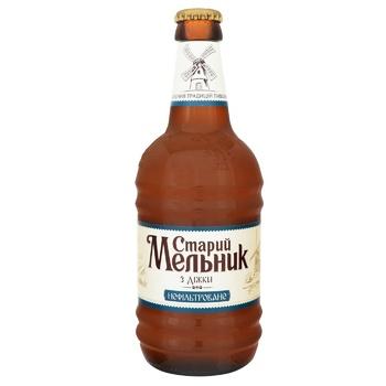 Пиво Старый Мельник из бочонка нефильтрованное 5% 0,45л