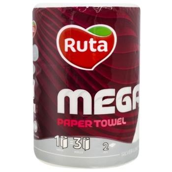 Полотенце бумажное Ruta Mega двухслойное 1шт