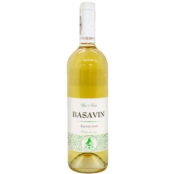 Вино Basavin Сильвер Совиньон белое сухое 11% 0,75л